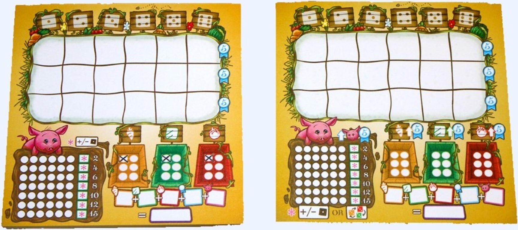 Harvest Dice game board