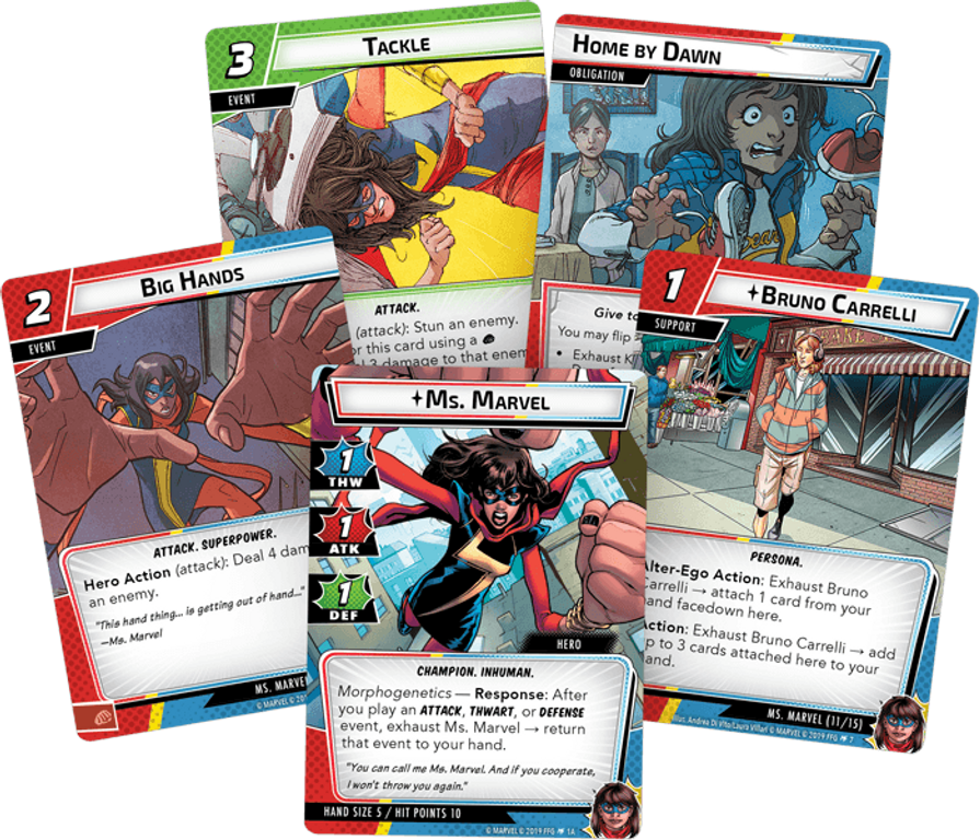 Marvel Champions: The Card Game - Ms. Marvel Hero Pack cards