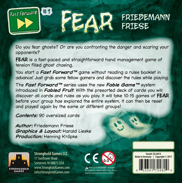 Fast Forward: FEAR back of the box