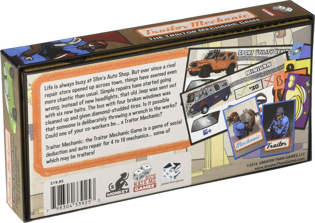 Traitor Mechanic: The Traitor Mechanic Game back of the box