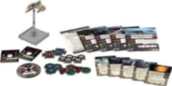 Star Wars: X-Wing Miniatures Game - E-Wing Expansion Pack components