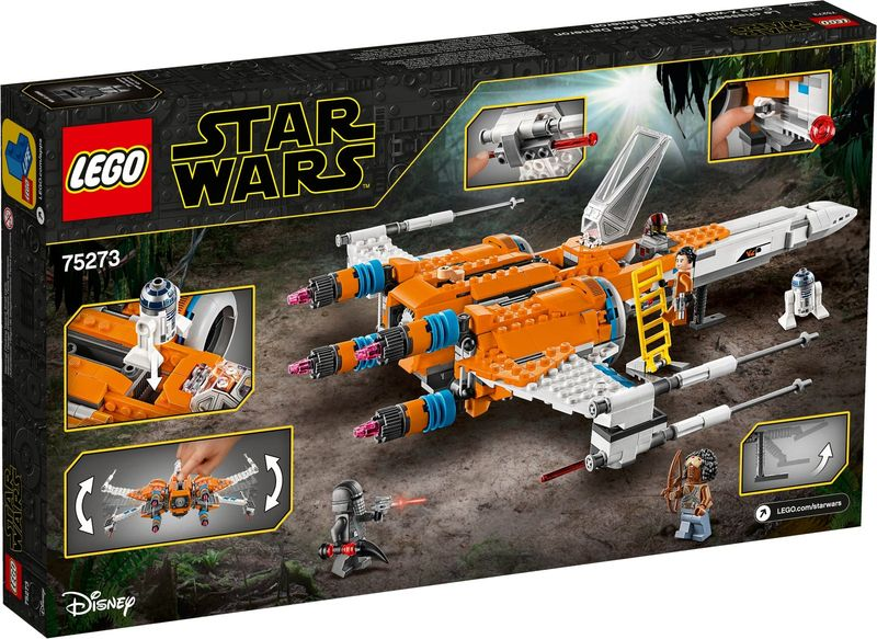 LEGO® Star Wars Poe Dameron's X-wing Fighter™ back of the box