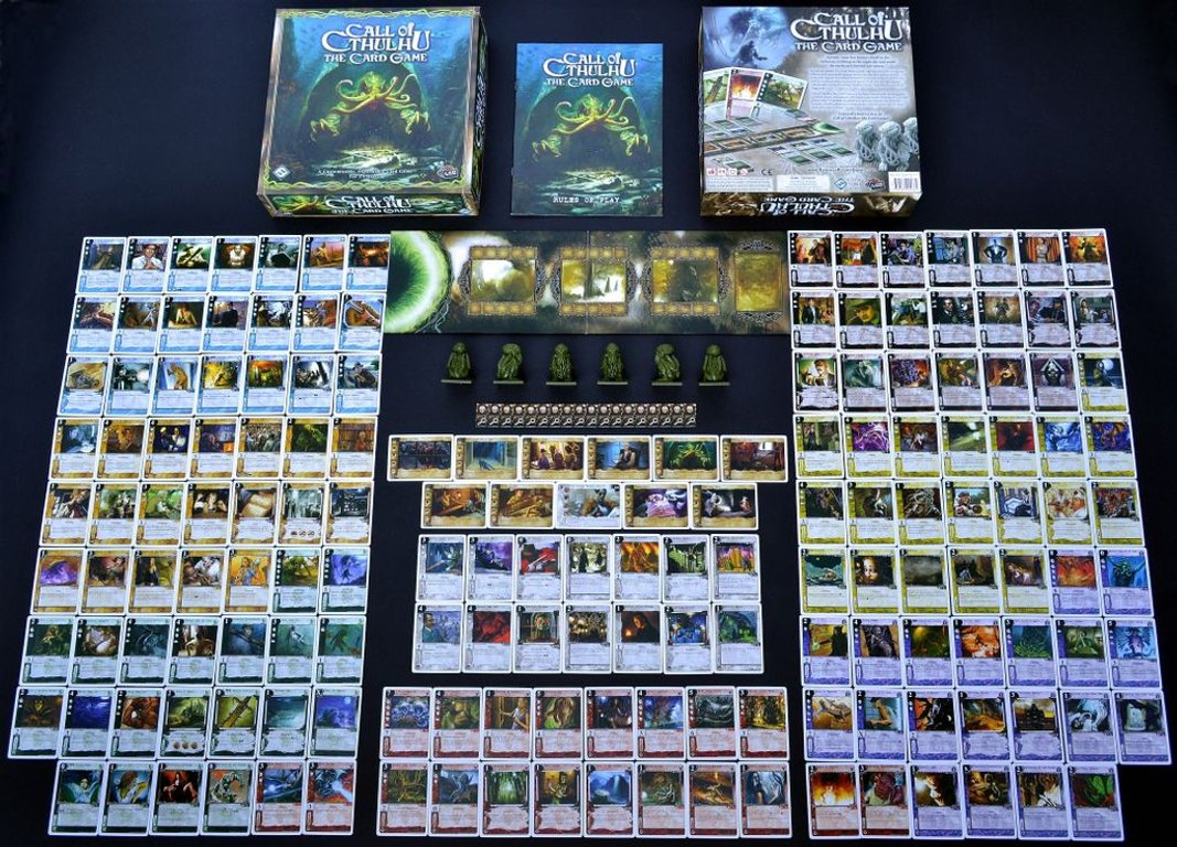 Call of Cthulhu: The Card Game components
