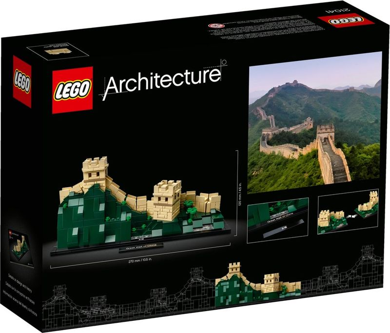 LEGO® Architecture Great Wall of China back of the box