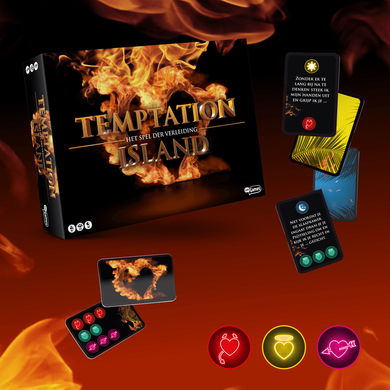 Temptation Island: The board game components