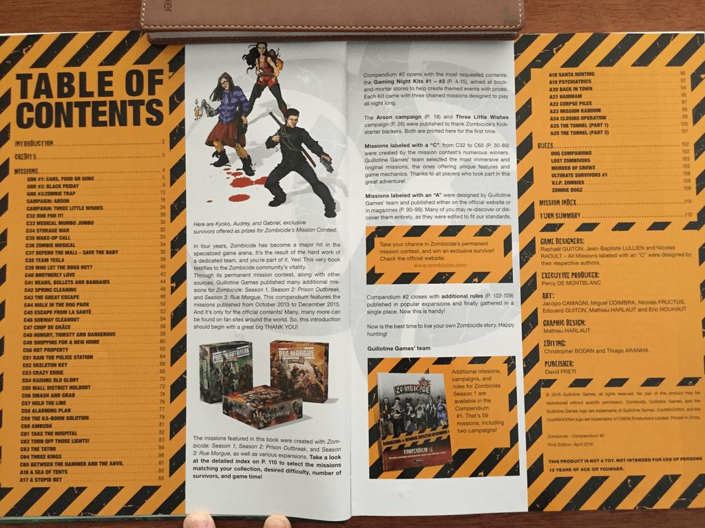 Zombicide Compendium 2 manual