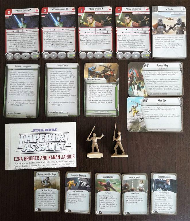 Star Wars: Imperial Assault – Ezra Bridger and Kanan Jarrus Ally Pack components