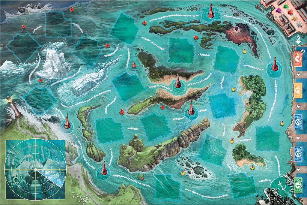 Deep Blue game board