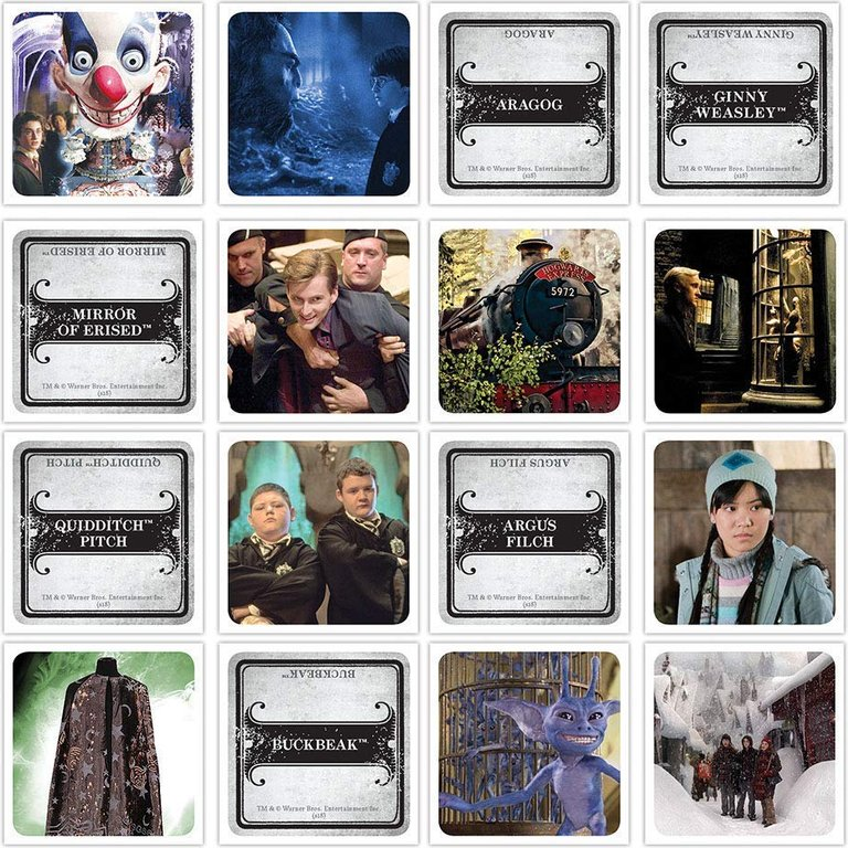 Codenames: Harry Potter cards
