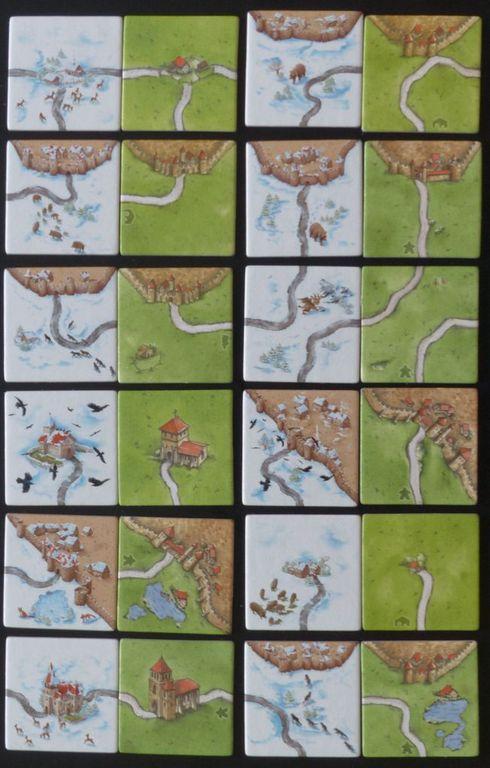 Carcassonne: Winter Edition tiles