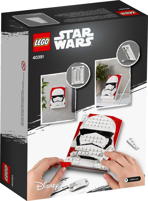 LEGO® Brick Sketches™ First Order Stormtrooper™ back of the box
