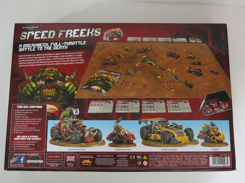 Warhammer 40,000: Speed Freeks back of the box