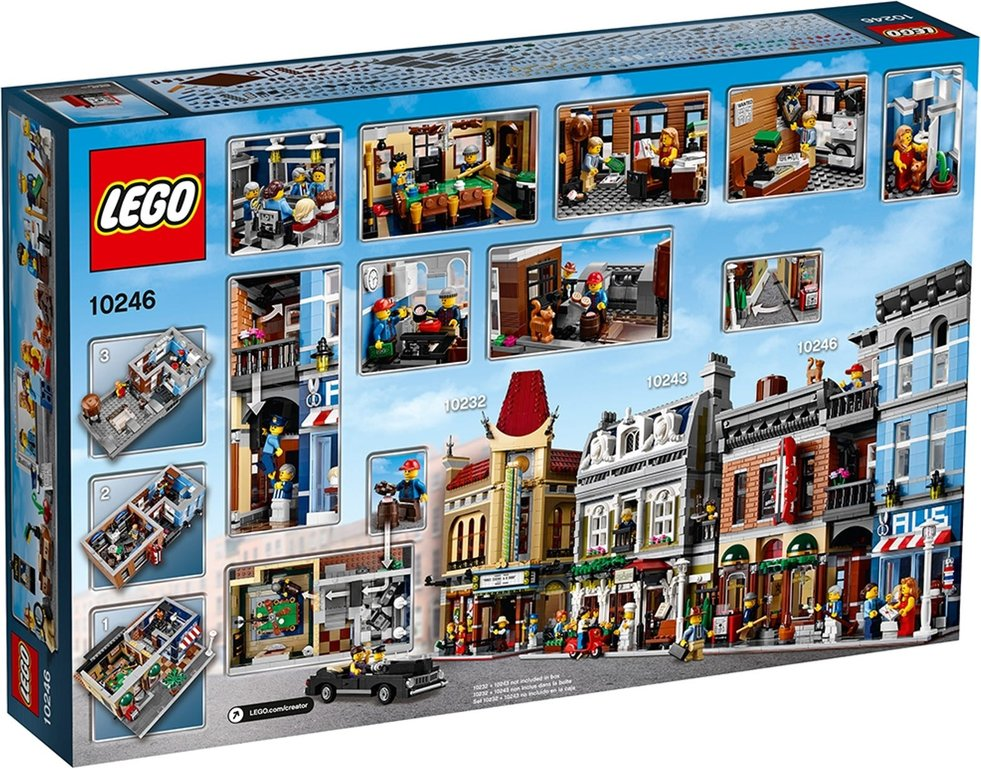 LEGO® Creator Expert Detective's Office back of the box