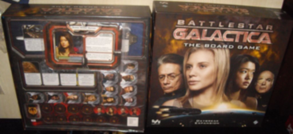 Battlestar Galactica: Daybreak Expansion components