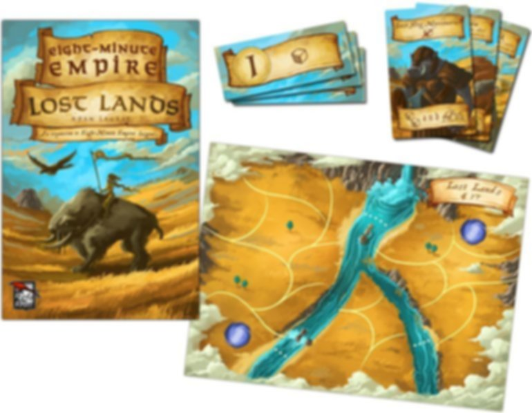 Eight-Minute Empire: Lost Lands components