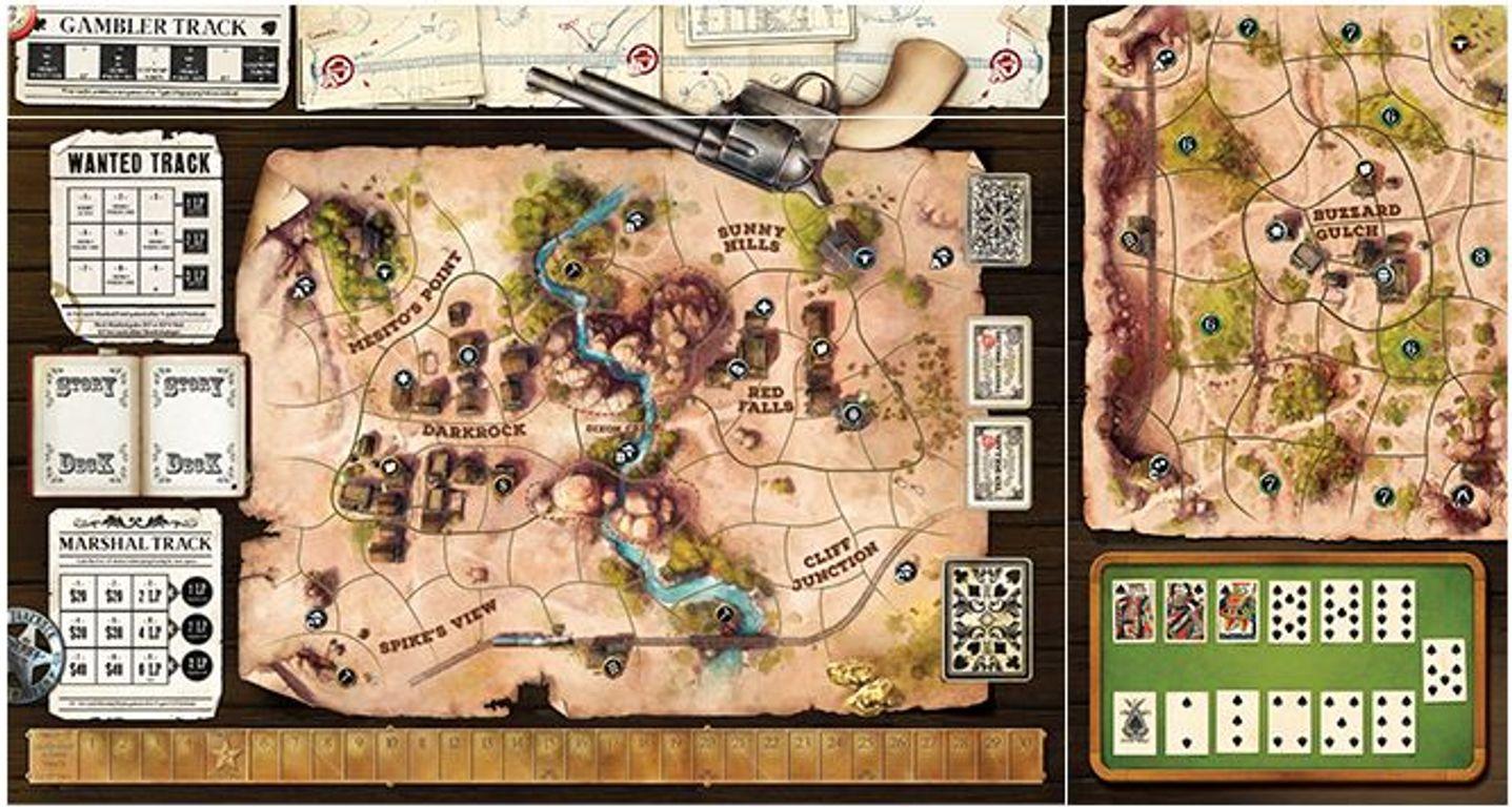 Western Legends: Ante Up game board