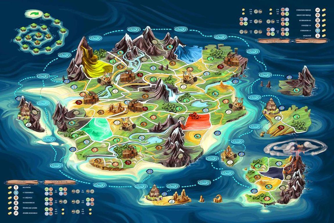 Bardagi: The Claim for Gold game board
