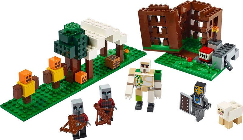 LEGO® Minecraft The Pillager Outpost components