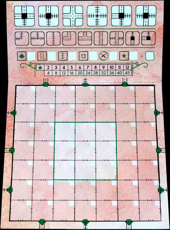 Railroad Ink: Blazing Red Edition game board