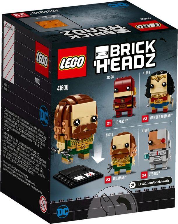 LEGO® BrickHeadz™ Aquaman™ back of the box