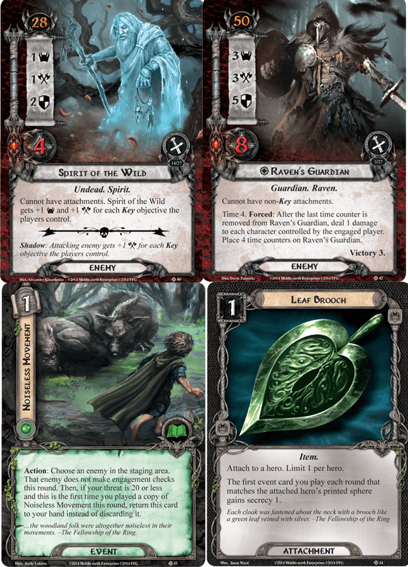 The Lord of the Rings: The Card Game - The Three Trials cards