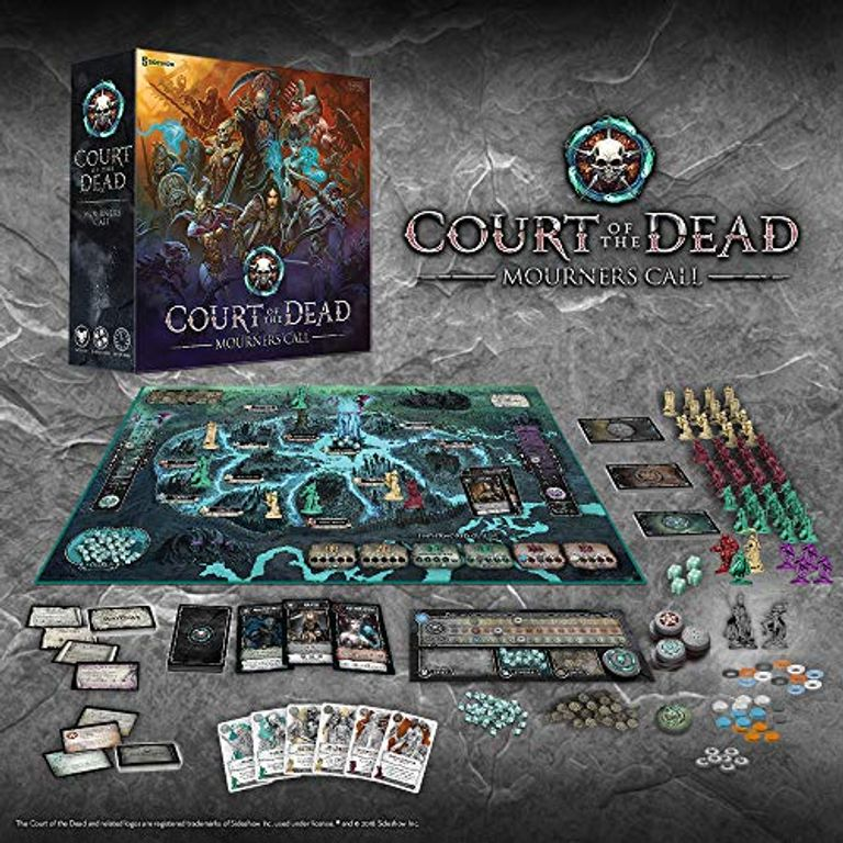 Court of the Dead: Mourners Call components