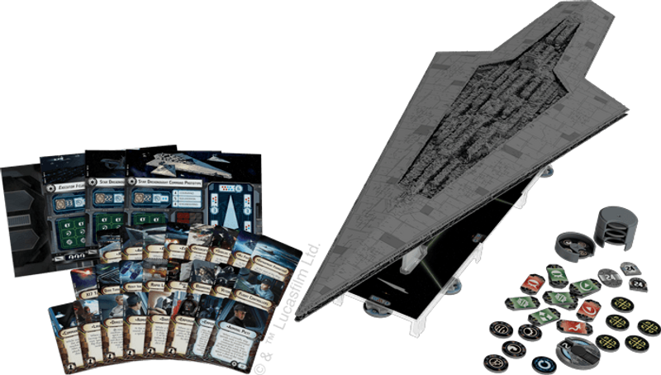 Star Wars: Armada - Super Star Destroyer Expansion Pack components
