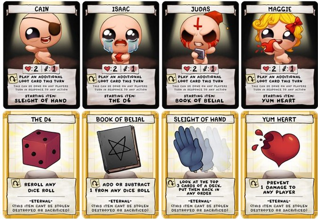 The Binding of Isaac: Four Souls cards