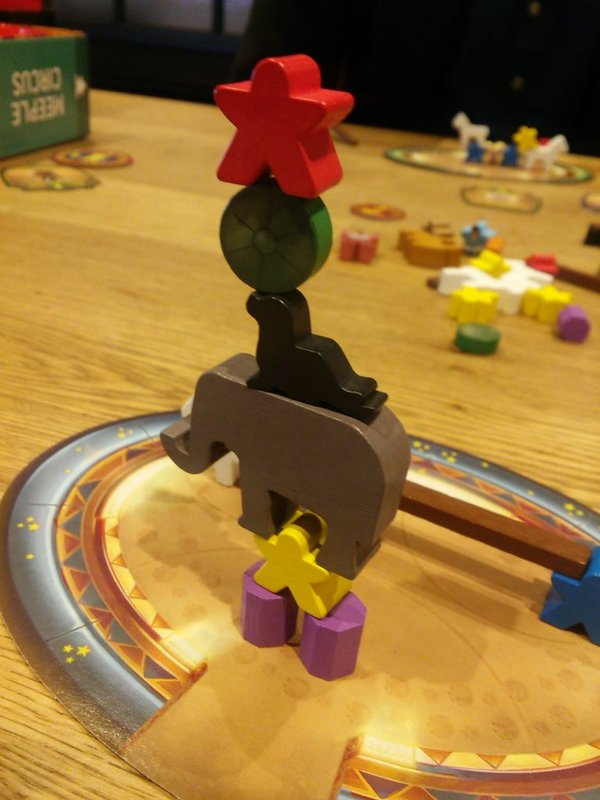 Meeple Circus components