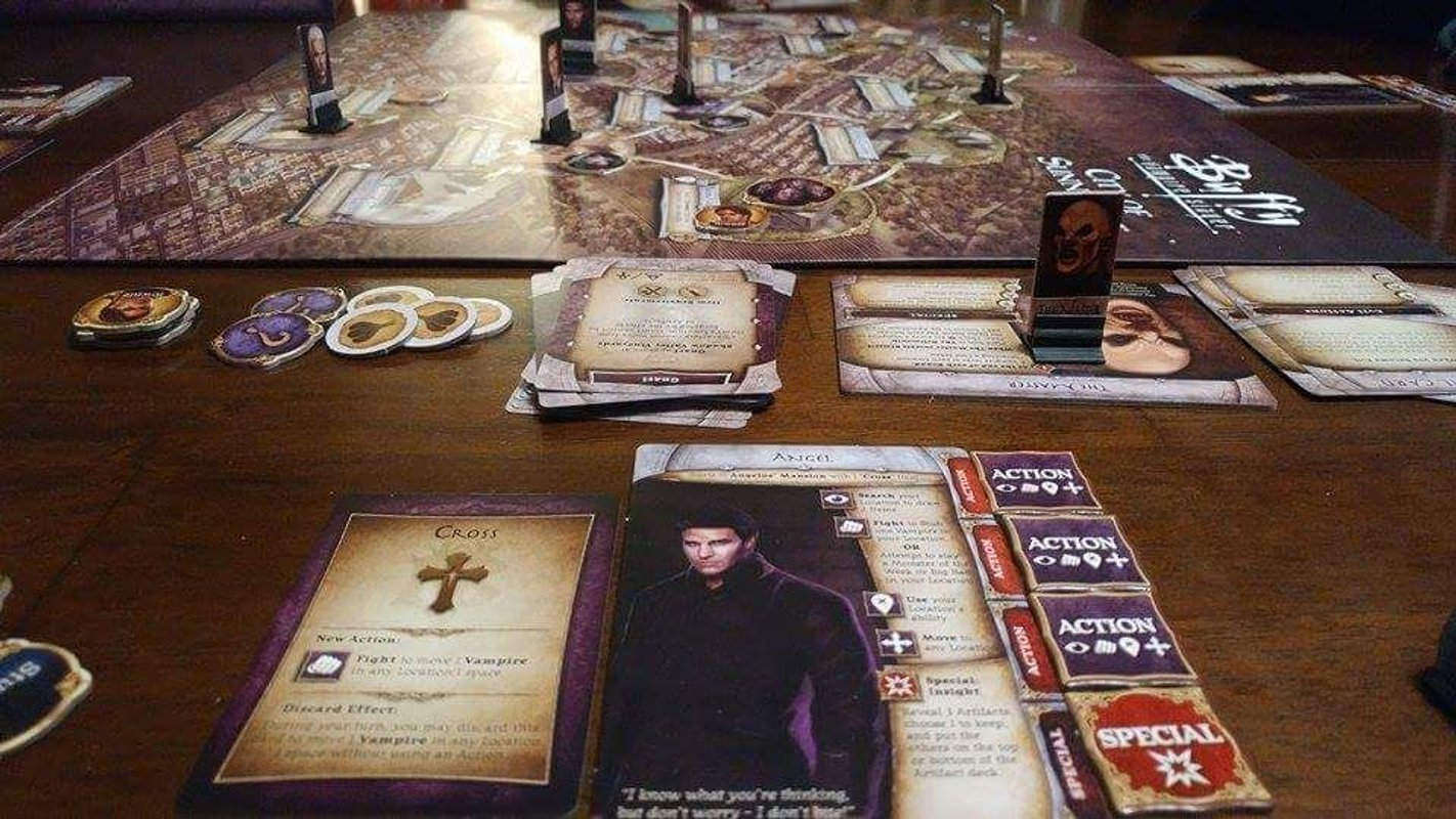 Buffy the Vampire Slayer: The Board Game components