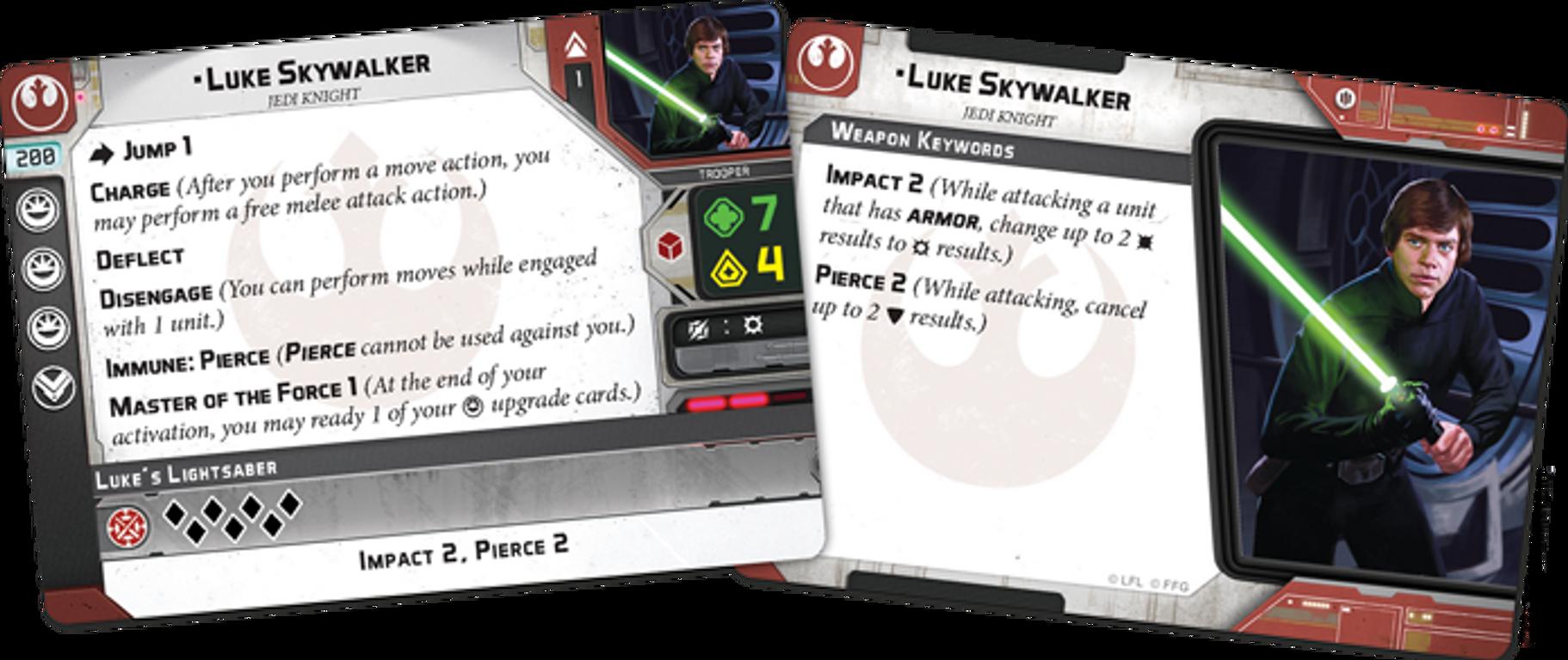 Star Wars: Legion - Luke Skywalker Operative Expansion card