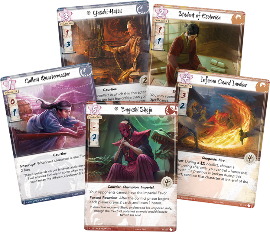 Legend of the Five Rings: The Card Game - Shoju's Duty cards