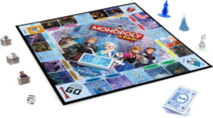 Monopoly Junior Disney Frozen components