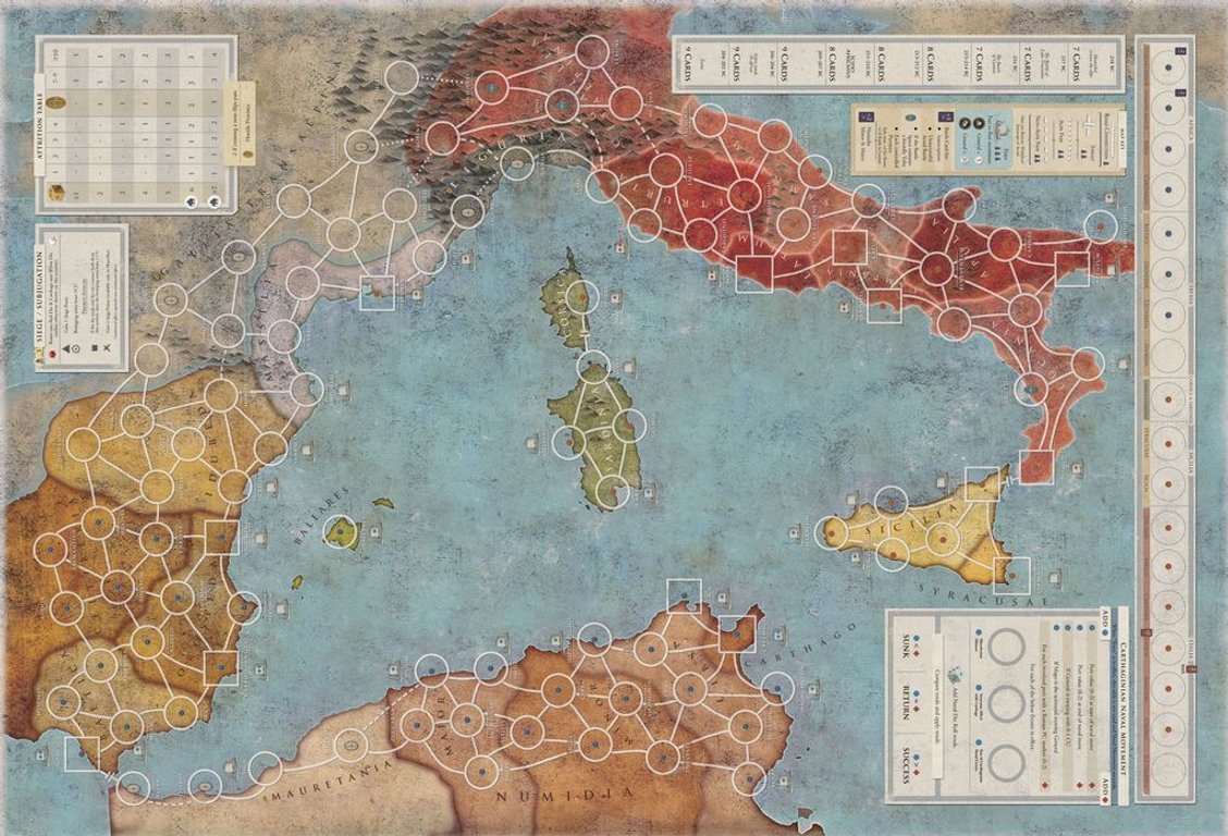 Hannibal & Hamilcar game board