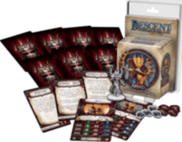 Descent: Journeys in the Dark (Second Edition) – Ariad Lieutenant Pack components