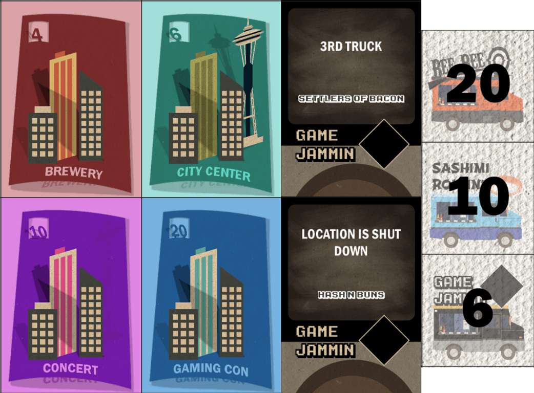 Truck Off: The Food Truck Frenzy cards