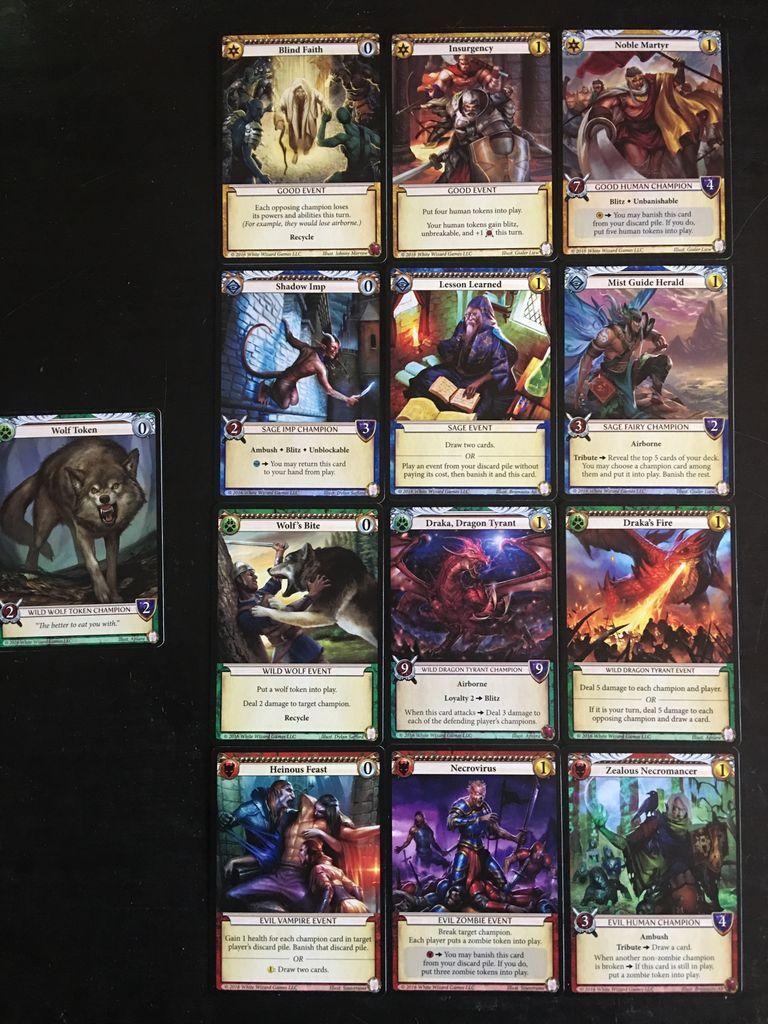 Epic Card Game: Tyrants - Draka's Rage cards