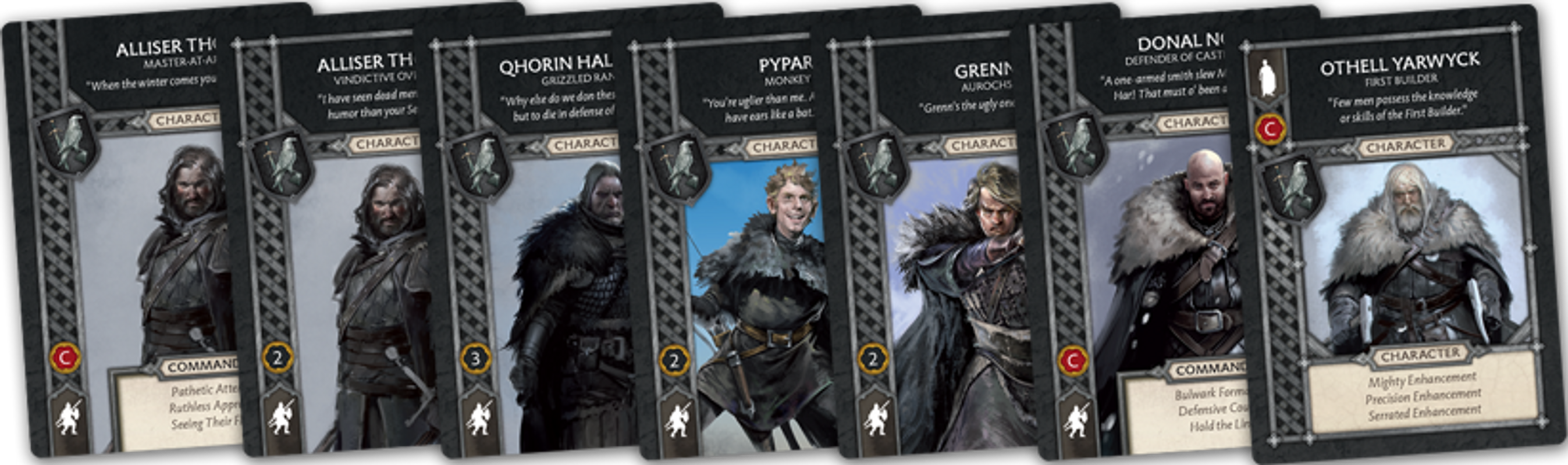 A Song of Ice & Fire: Tabletop Miniatures Game – Night's Watch Heroes I cards