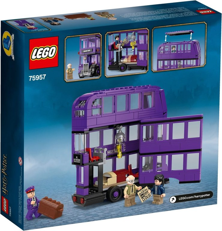 LEGO® Harry Potter™ The Knight Bus™ back of the box