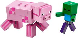 LEGO® Minecraft Bigfig Pig with Zombie baby components