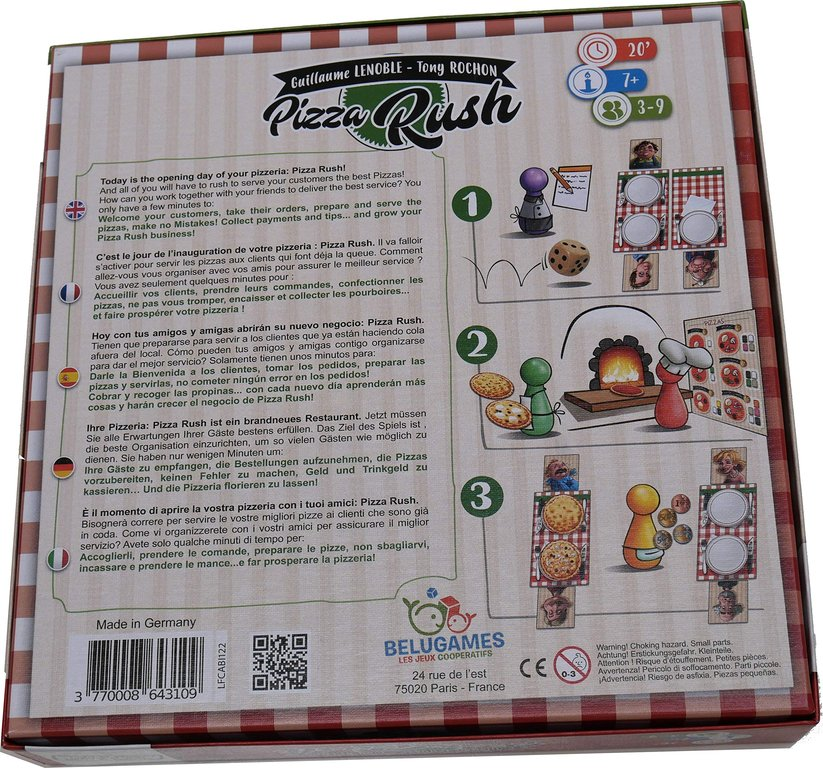 Pizza Rush back of the box