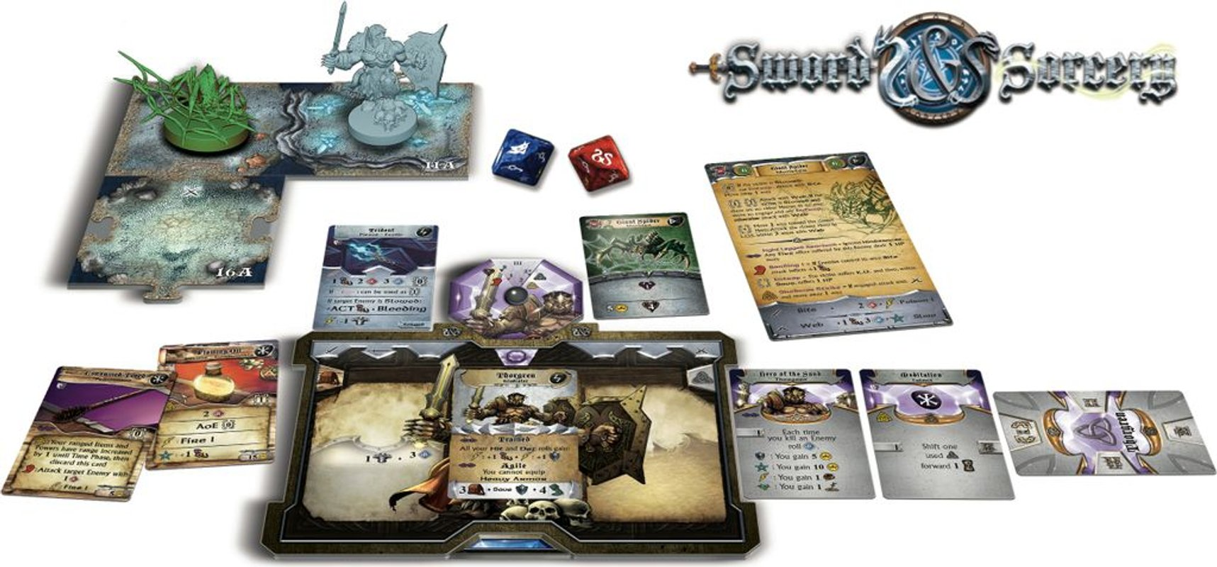 Sword & Sorcery: Ancient Chronicles components