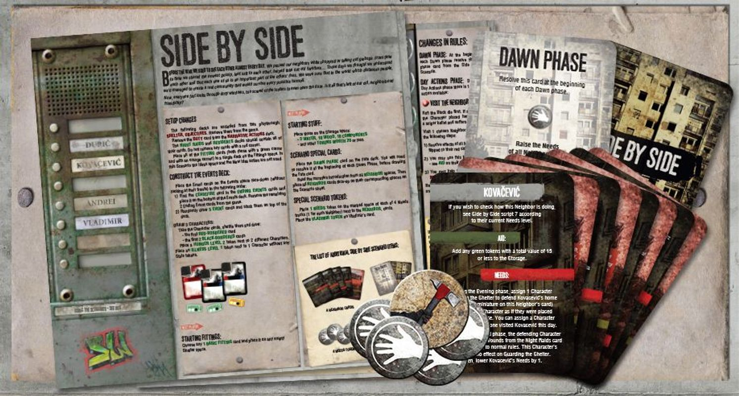 This War of Mine: Tales from the Ruined City components