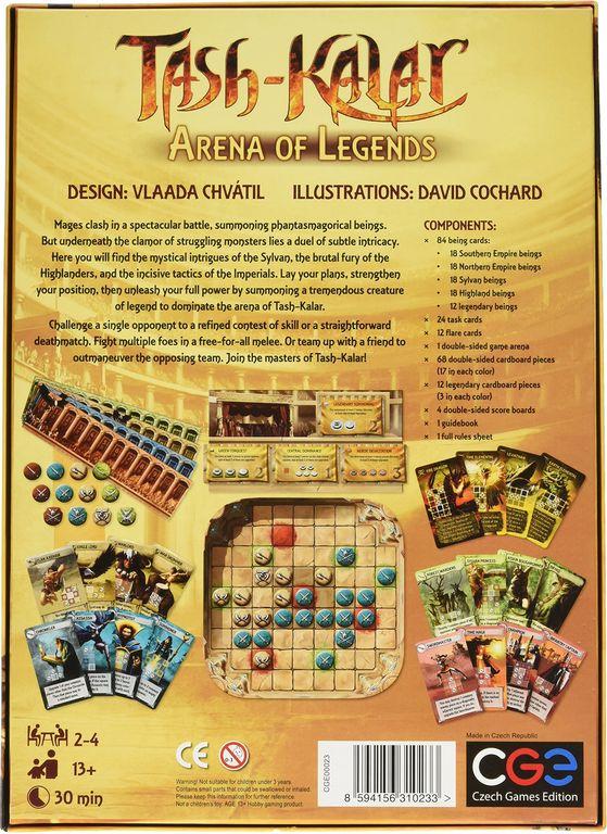 Tash-Kalar: Arena of Legends back of the box
