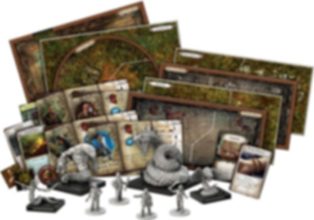 Mansions of Madness: Second Edition - Path of the Serpent components