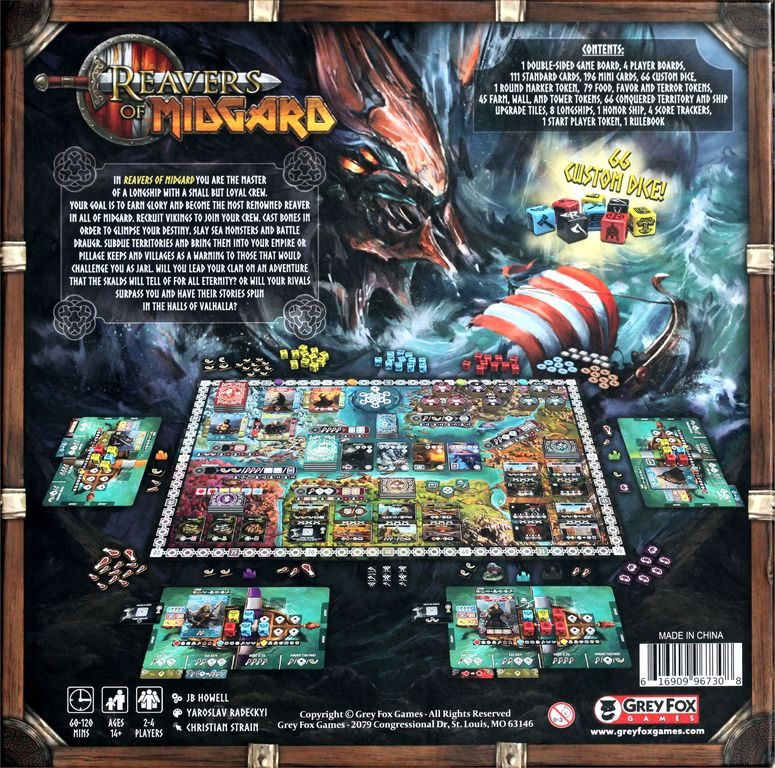 Reavers of Midgard back of the box