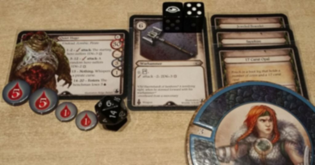 Aventuria: Ship of Lost Souls components