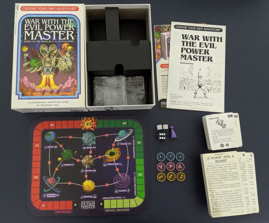 Choose Your Own Adventure: War with the Evil Power Master components