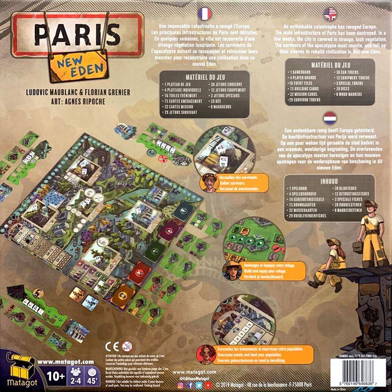 Paris: New Eden back of the box