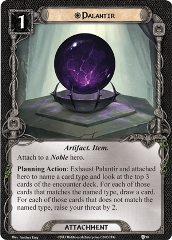 The Lord of the Rings: The Card Game - Assault on Osgiliath Palantir card